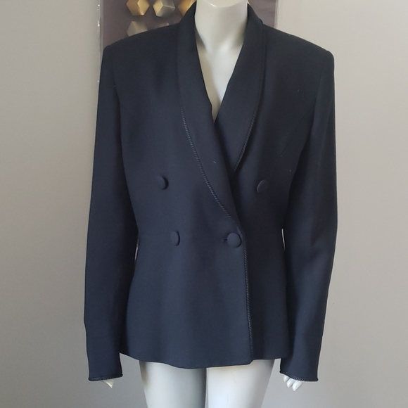 Christian Dior Double Breasted Vintage Wool Blazer
